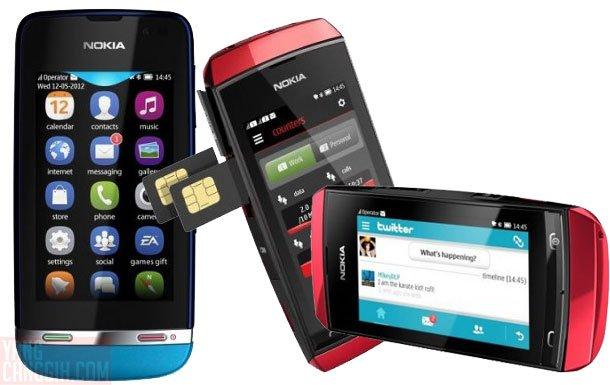 nokia asha touch Trio Nokia Asha Touch Series: Layar Sentuh, Harga ...